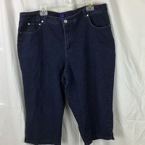Kim Rogers sz 22W Capri Jeans Dark wash